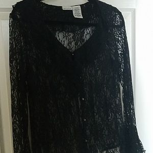 Pretty lacy black blouse